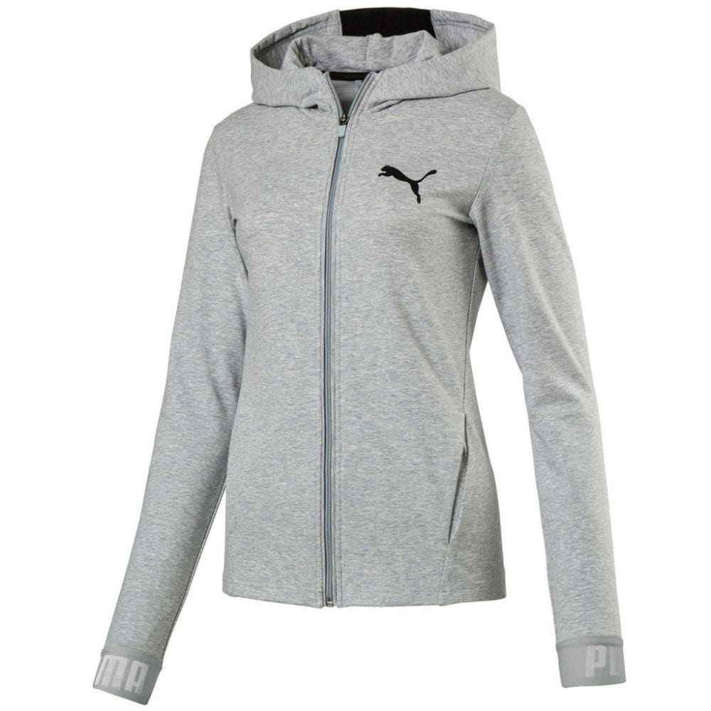 PUMA Women's Active Urban Sports Full Zip Hoodie - LIGHT GRAY-04