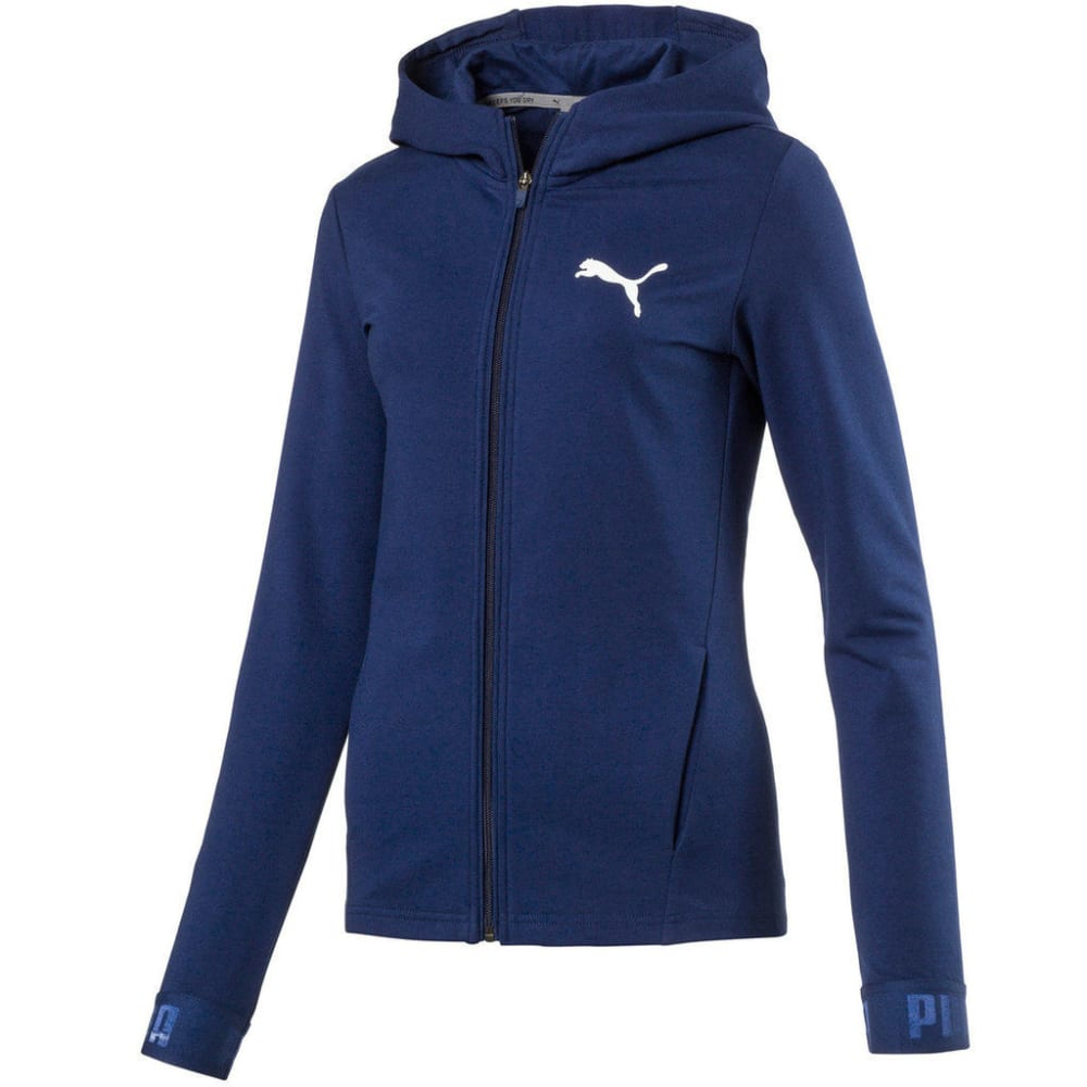 PUMA Women's Active Urban Sports Full Zip Hoodie - BLUE DEPTH-16