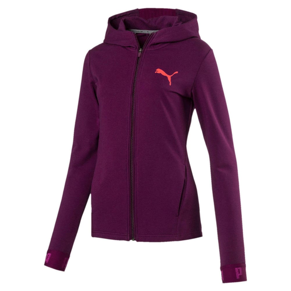 PUMA Women's Active Urban Sports Full Zip Hoodie - DARK PURPLE-29