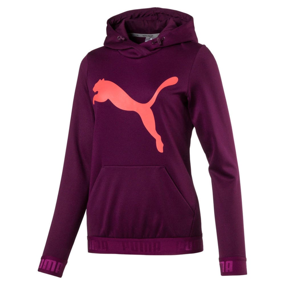 PUMA Women's Active Urban Sports Big Cat Hoodie - DARK PURPLE-29