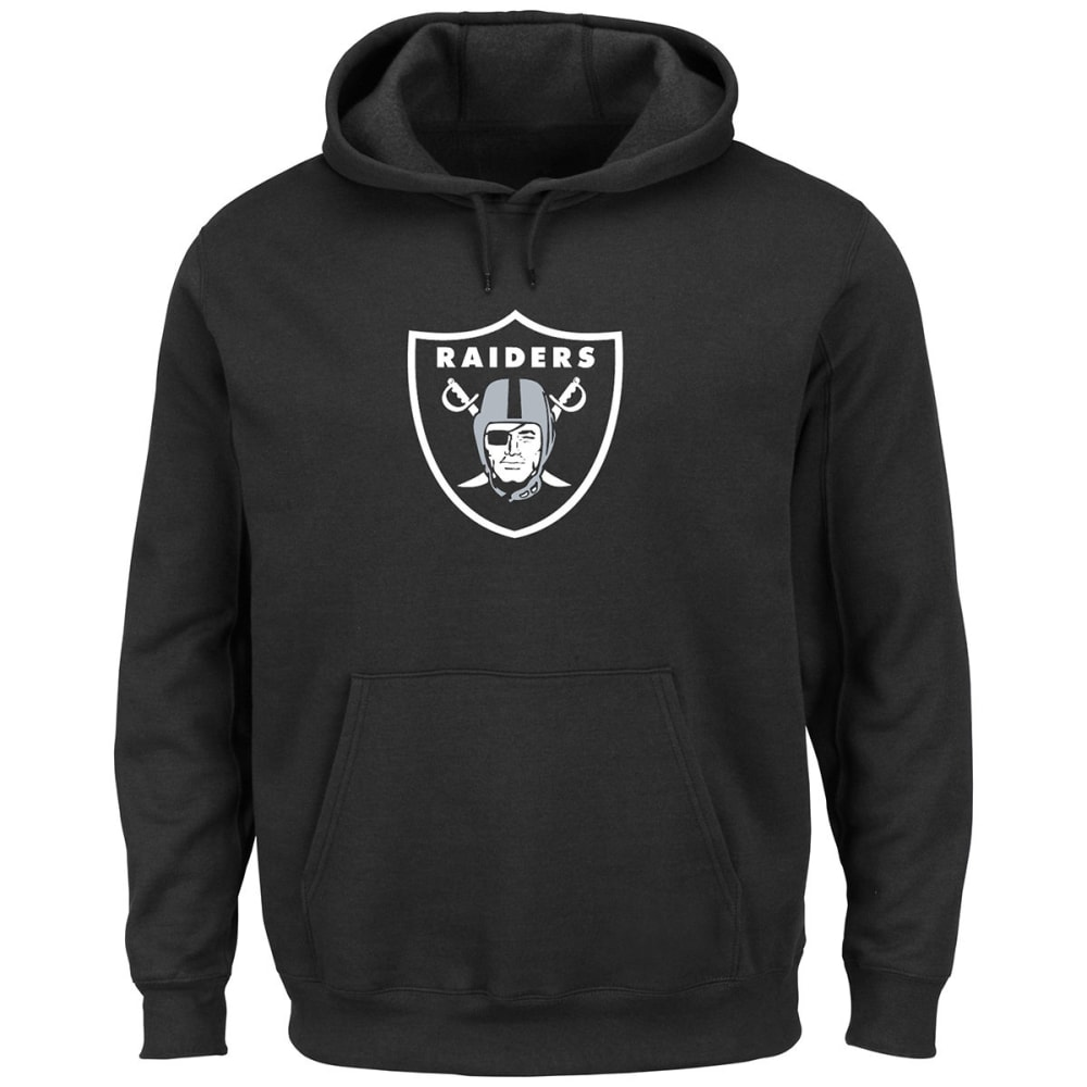 OAKLAND RAIDERS Men's Tek Patch Pullover Hoodie - BLACK