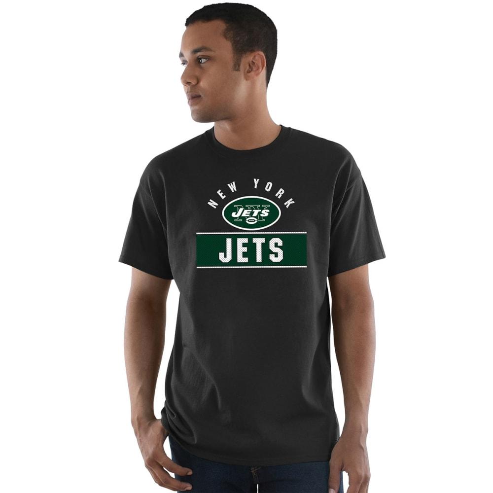 NEW YORK JETS Men's Maximized Short-Sleeve Tee - BLACK