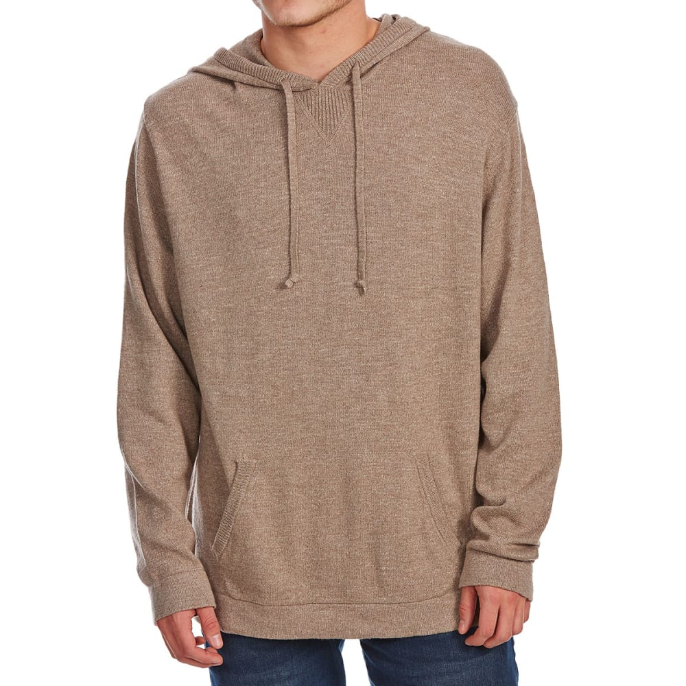 G.H. BASS & CO. Men's Hooded Long-Sleeve Sweater - WILD OAT HTR-111