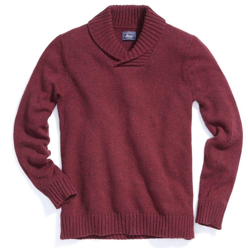 G.H. BASS & CO. Men's Donegal Shawl Collar Sweater - MERLOT-640