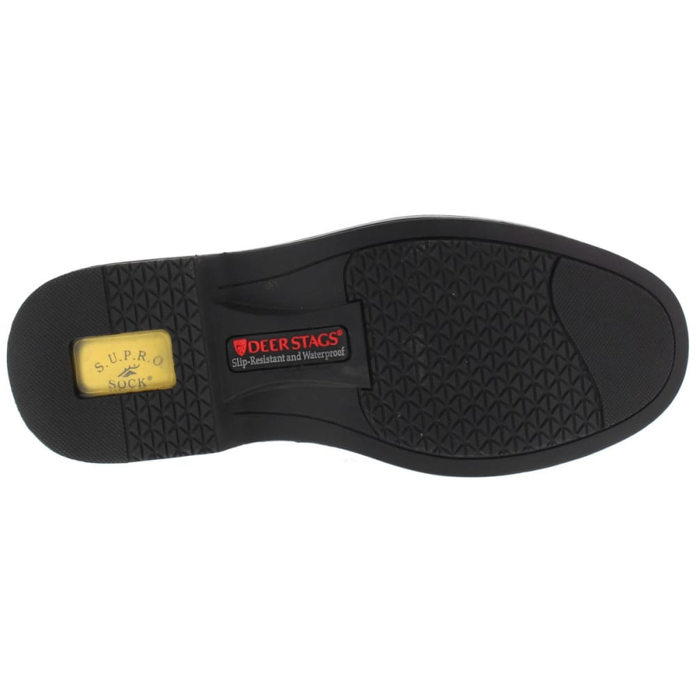 DEER STAGS Men's Nu Times Waterproof Service Shoes, Black - BLACK