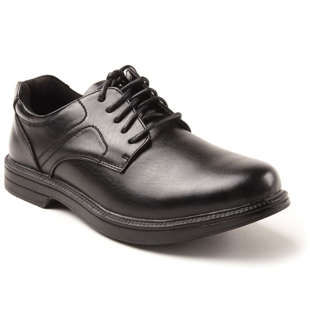 DEER STAGS Men's Nu Times Waterproof Service Shoes - BLACK