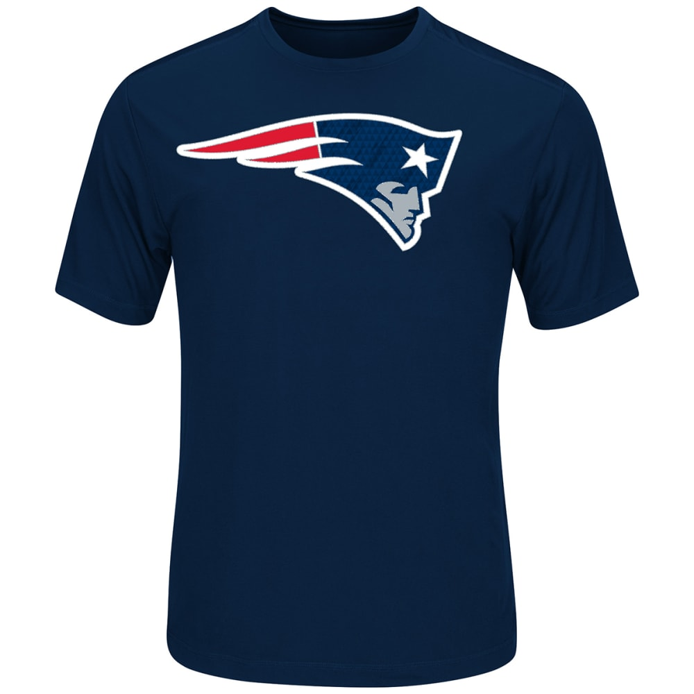 NEW ENGLAND PATRIOTS Logo Tech Performance Tee - NAVY