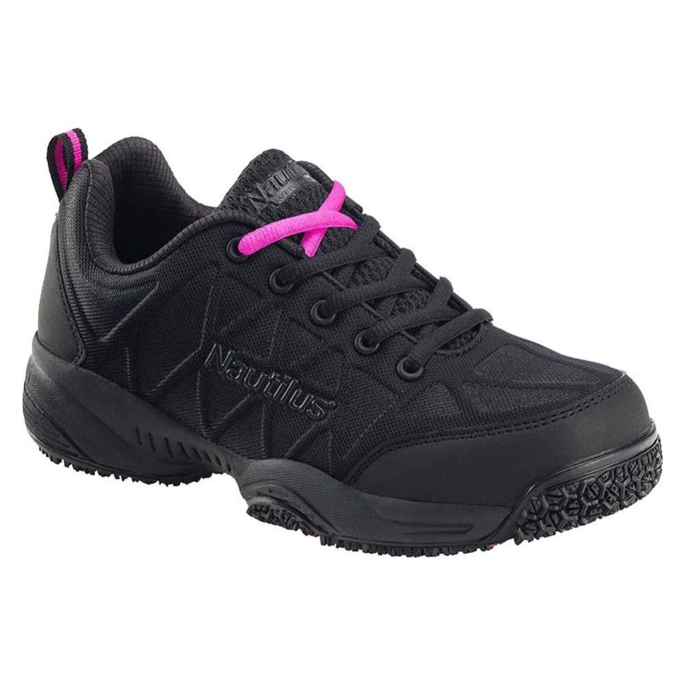 NAUTILUS Women's 2158 Comp Toe Athletic Work Shoes, Black - BLACK