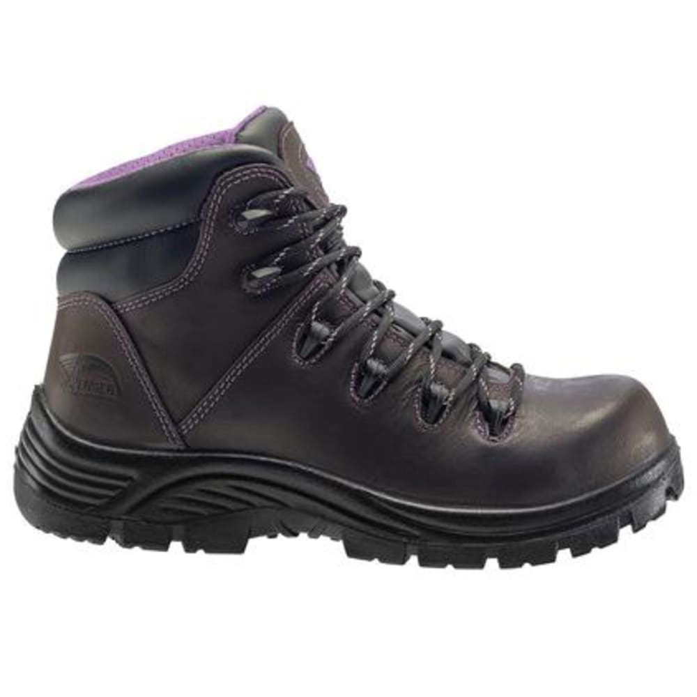 AVENGER Women's 6 in. 7123 Composite Toe Waterproof Work Boots, Dark Brown, Wide - DARK BROWN
