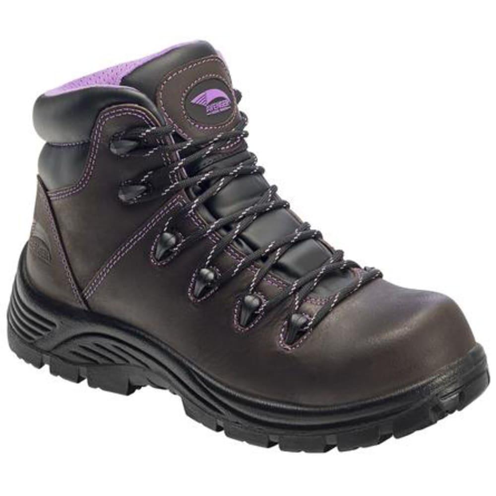 AVENGER Women's 6 in. 7123 Composite Toe Waterproof Work Boots, Dark Brown, Wide - DARK BROWN