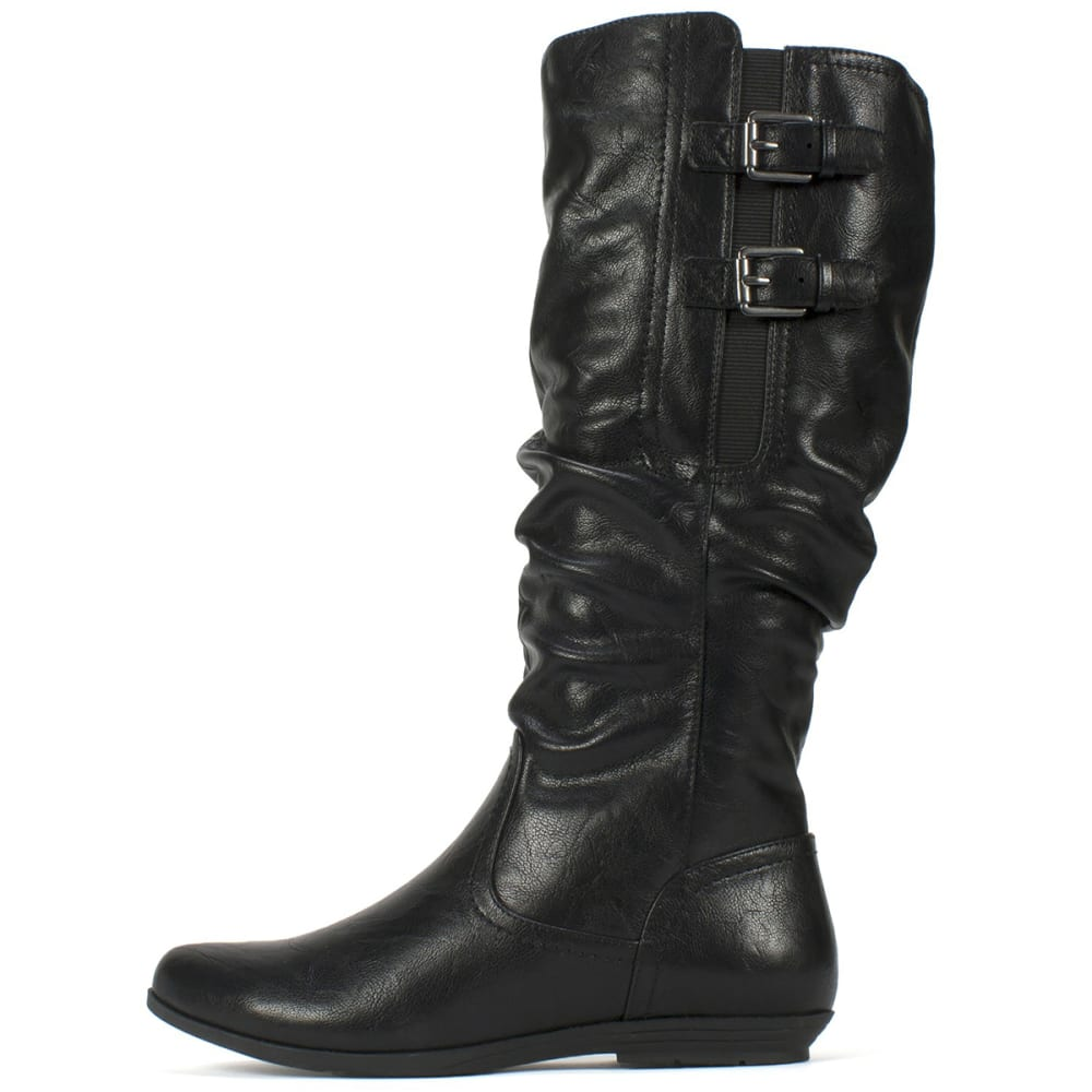 WHITE MOUNTAIN Women's Fernanda Tall Boots, Black - BLACK
