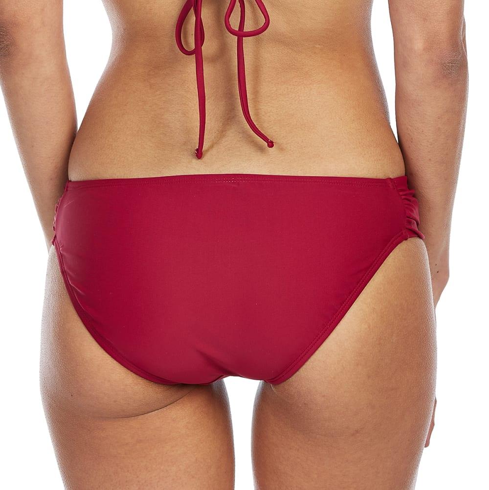 ISLAND SOUL Juniors' Side Tab Bikini Bottoms - RASPBERRY JAM