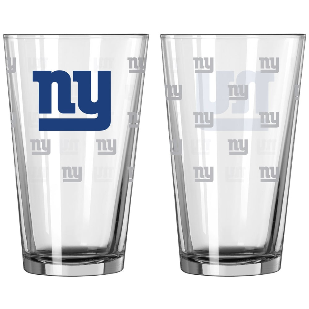 NEW YORK GIANTS 16 oz. Satin Etched Pint Glass - NO COLOR