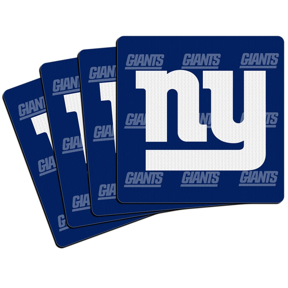NEW YORK GIANTS Coasters, 4-Pack - ROYAL BLUE