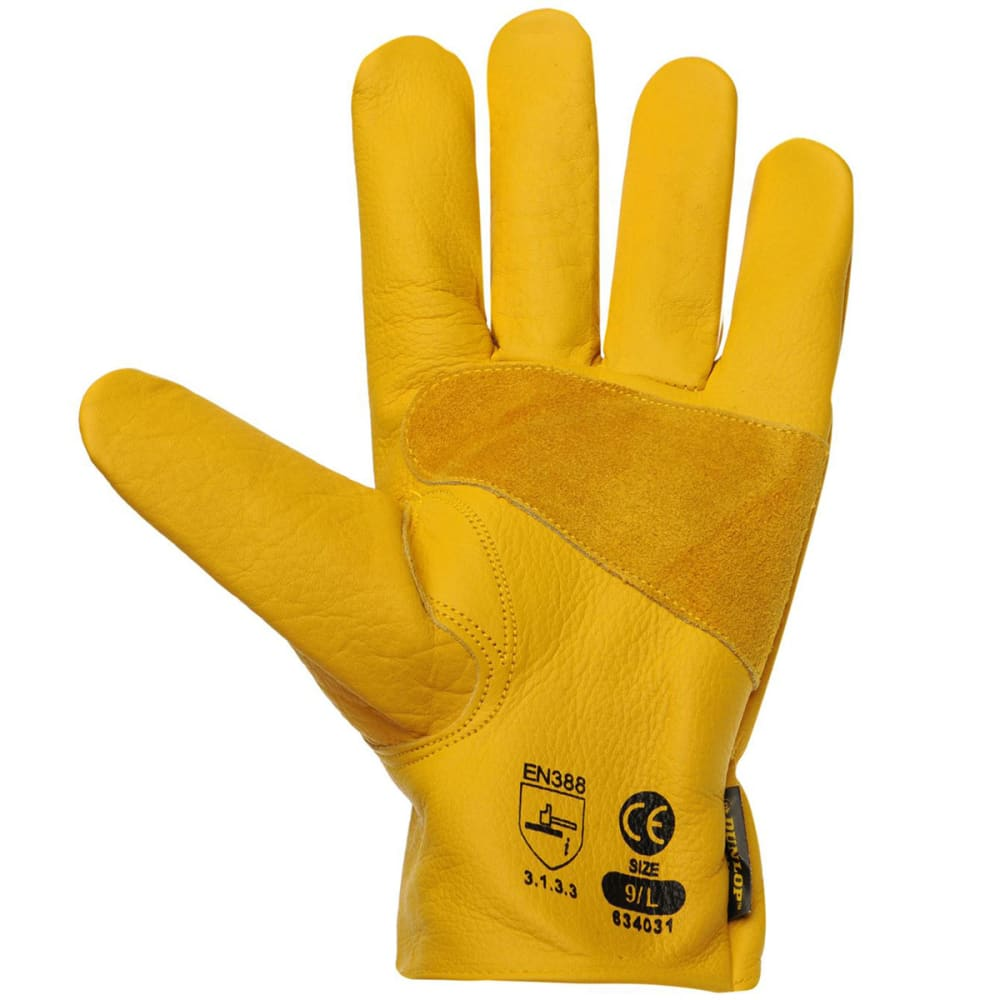 DUNLOP Men's Driver Deluxe Work Gloves - YELLOW