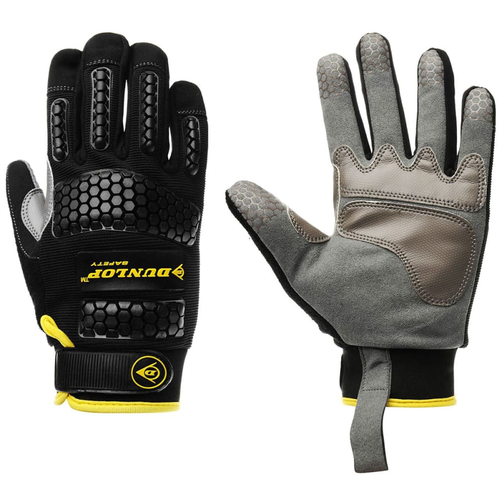 DUNLOP Men's Mechanic Gloves - BLACK GREY