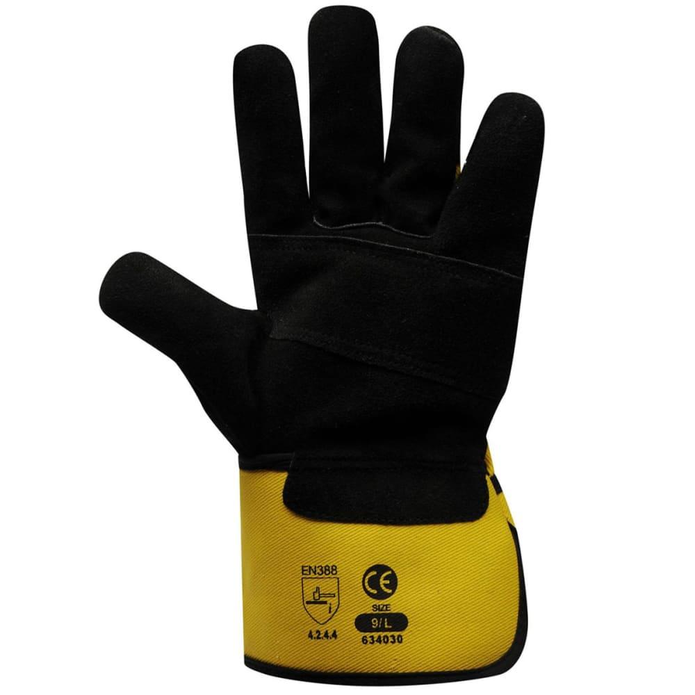 DUNLOP Men's Rigger Deluxe Work Gloves - BLACK YELLOW