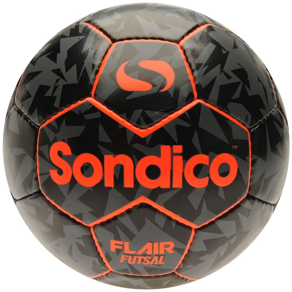 SONDICO Flair Indoor Soccer Ball - ORANGE/BLACK