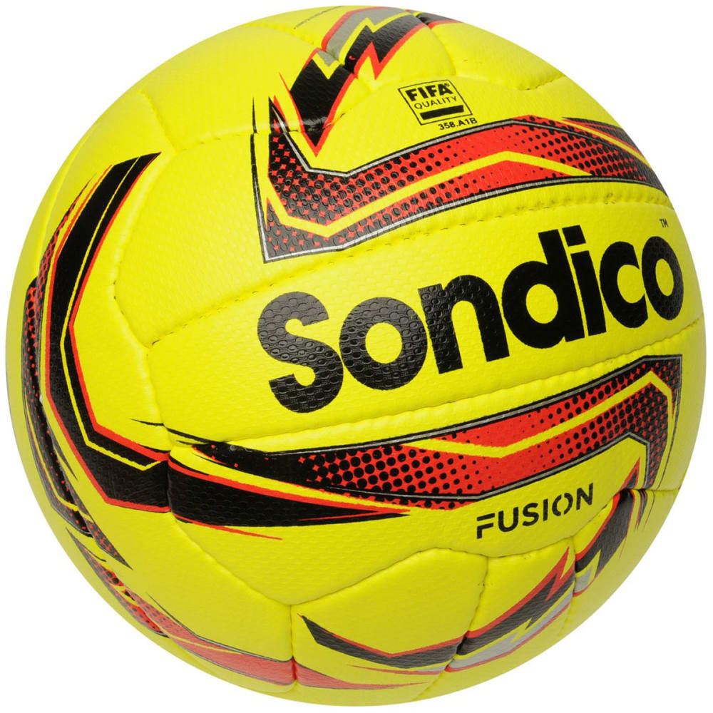 SONDICO Fusion Soccer Ball - Yellow/Red/Blk