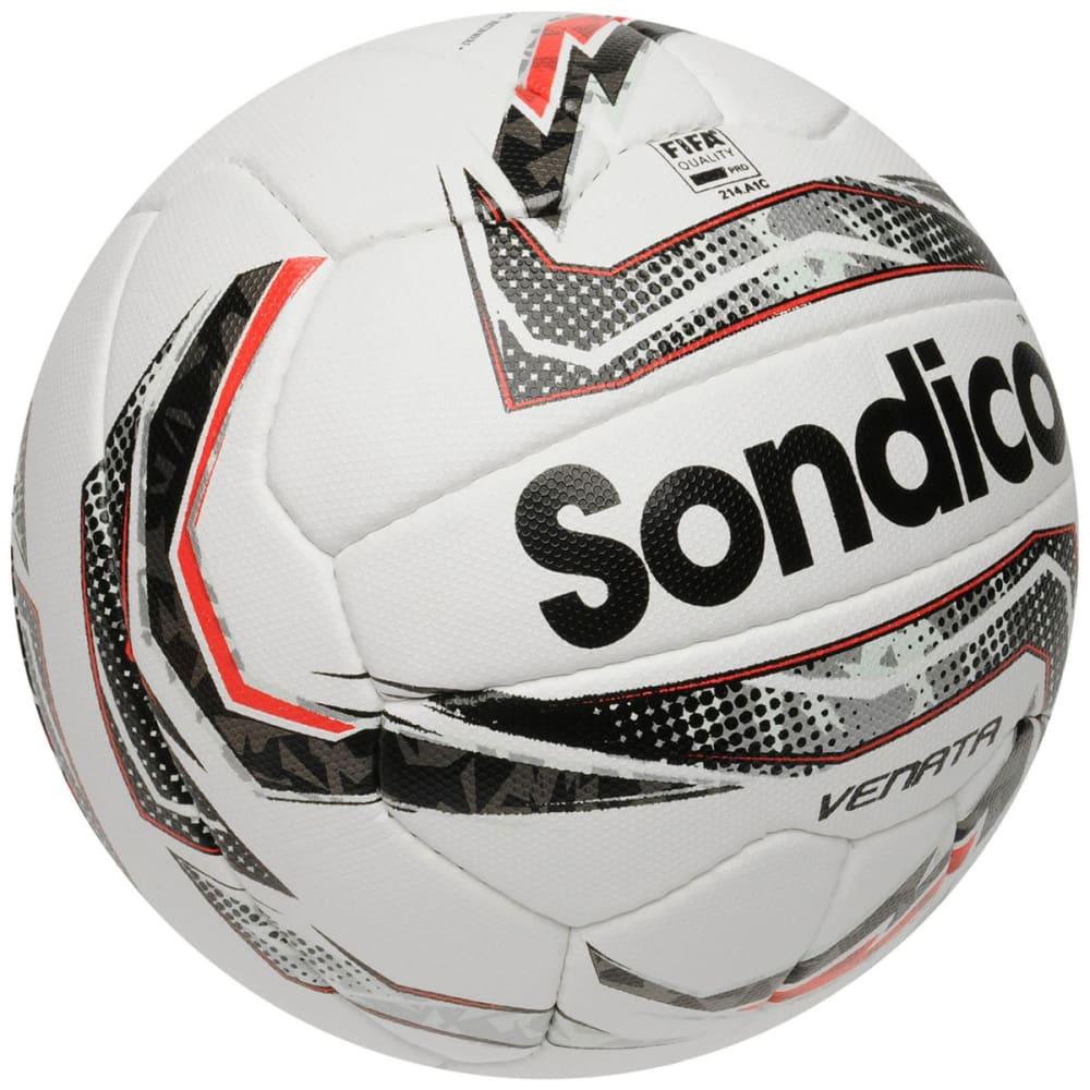 SONDICO Venata Soccer Ball - White/Silv/Red