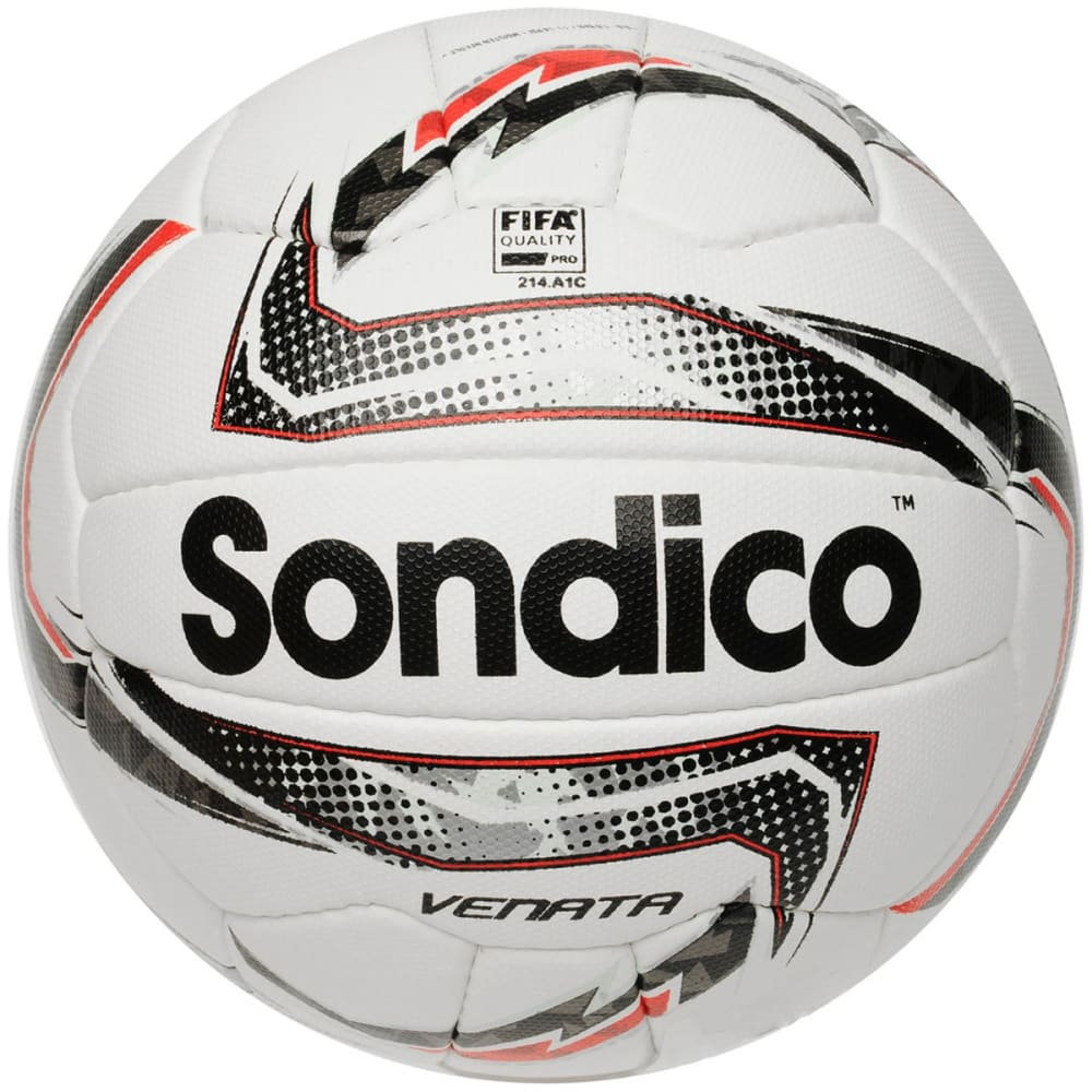 SONDICO Venata Soccer Ball - White/Silv/Red