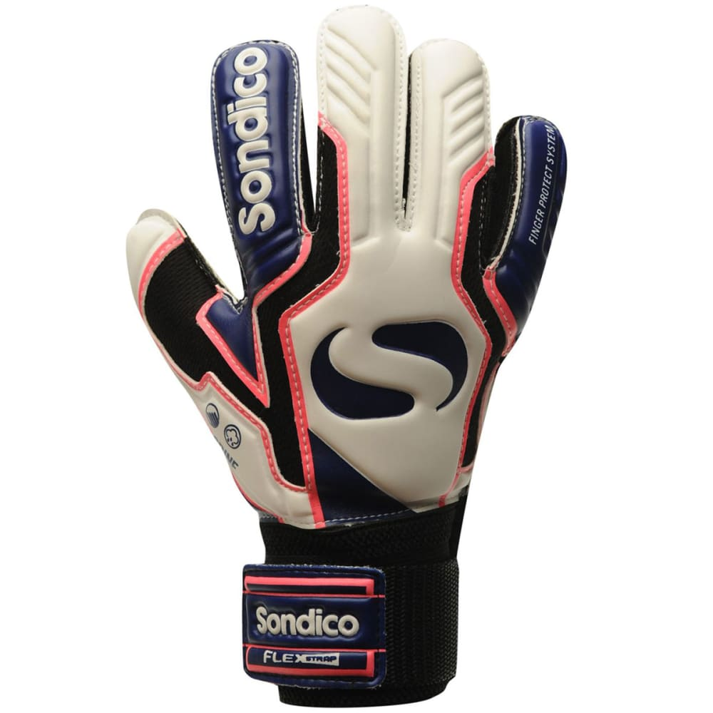 SONDICO AquaSpine Junior Goalkeeper Gloves - White/Purp/Blue