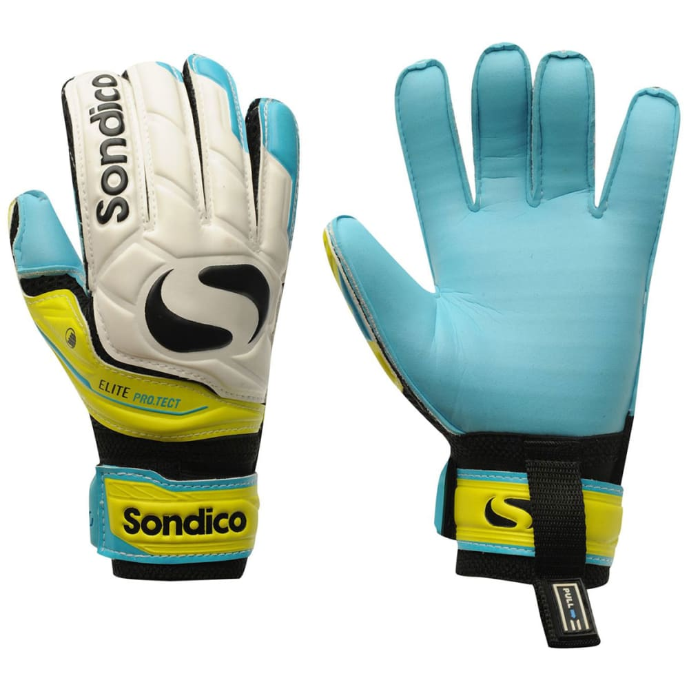 SONDICO Elite Protect Junior Goalkeeper Gloves - WHITE/YELLOW