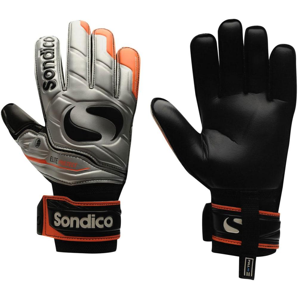 SONDICO Men's Elite Protect Goalkeeper Gloves - SILVER/ORANGE