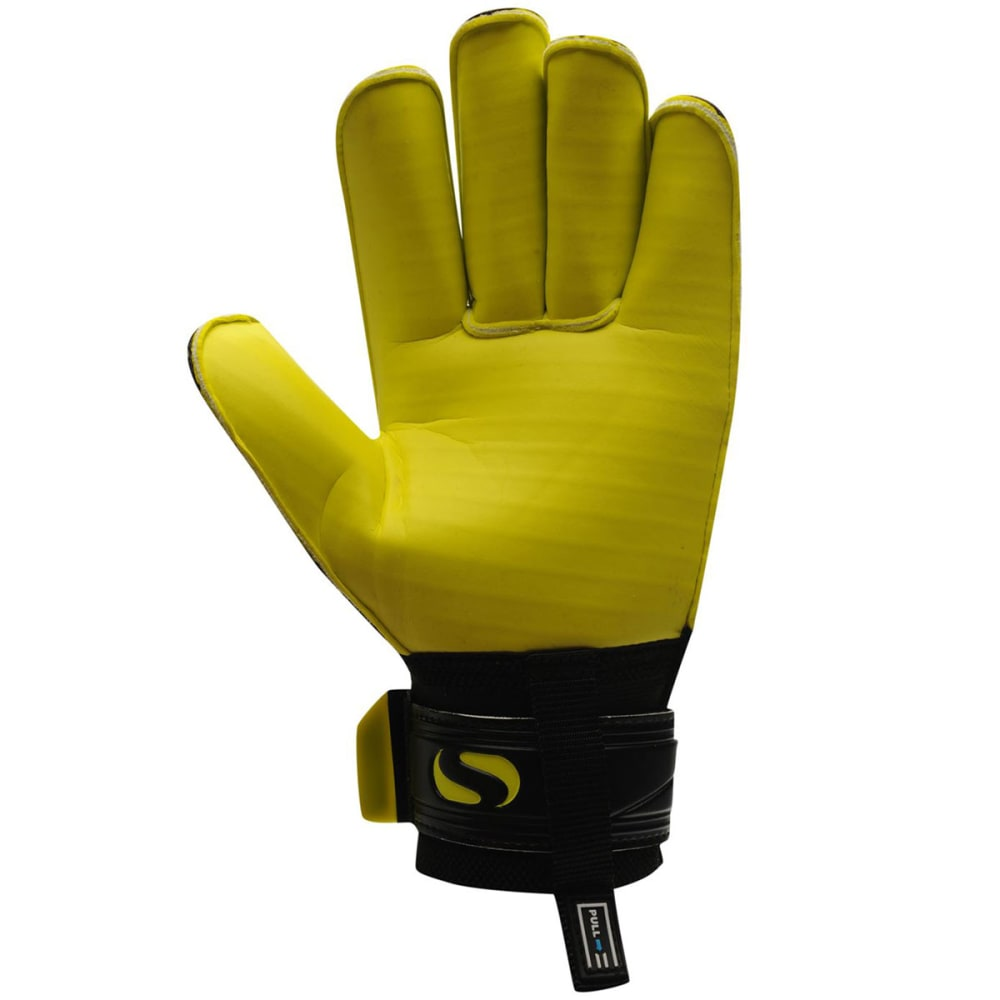 SONDICO Men's Elite Roll Goalkeeper Gloves - BLACK/YELLOW
