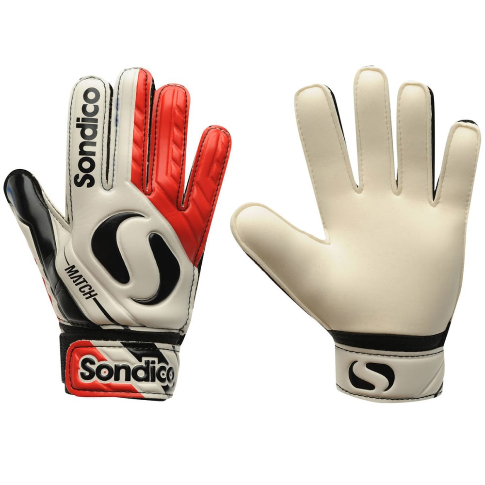 SONDICO Match Junior Goalkeeper Gloves - WHITE/RED