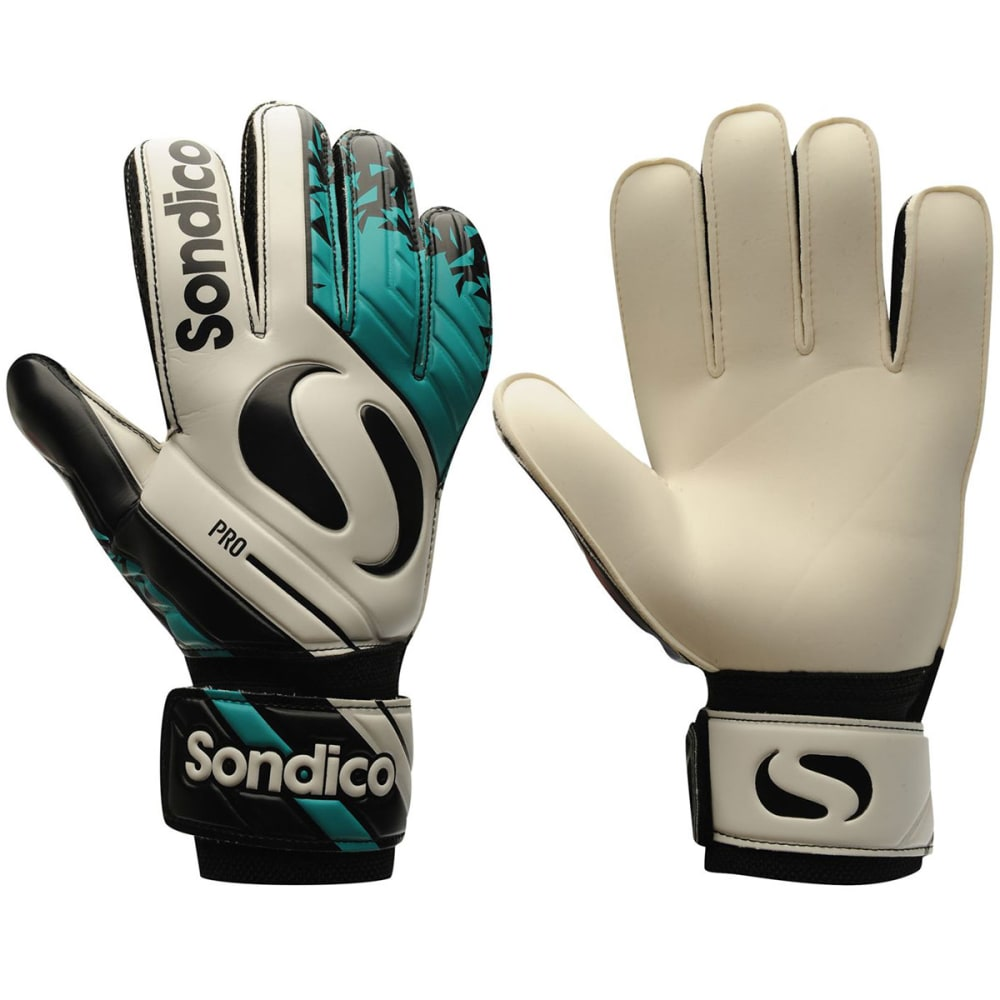 SONDICO Men's Pro Goalkeeper Gloves - WHITE/TEAL