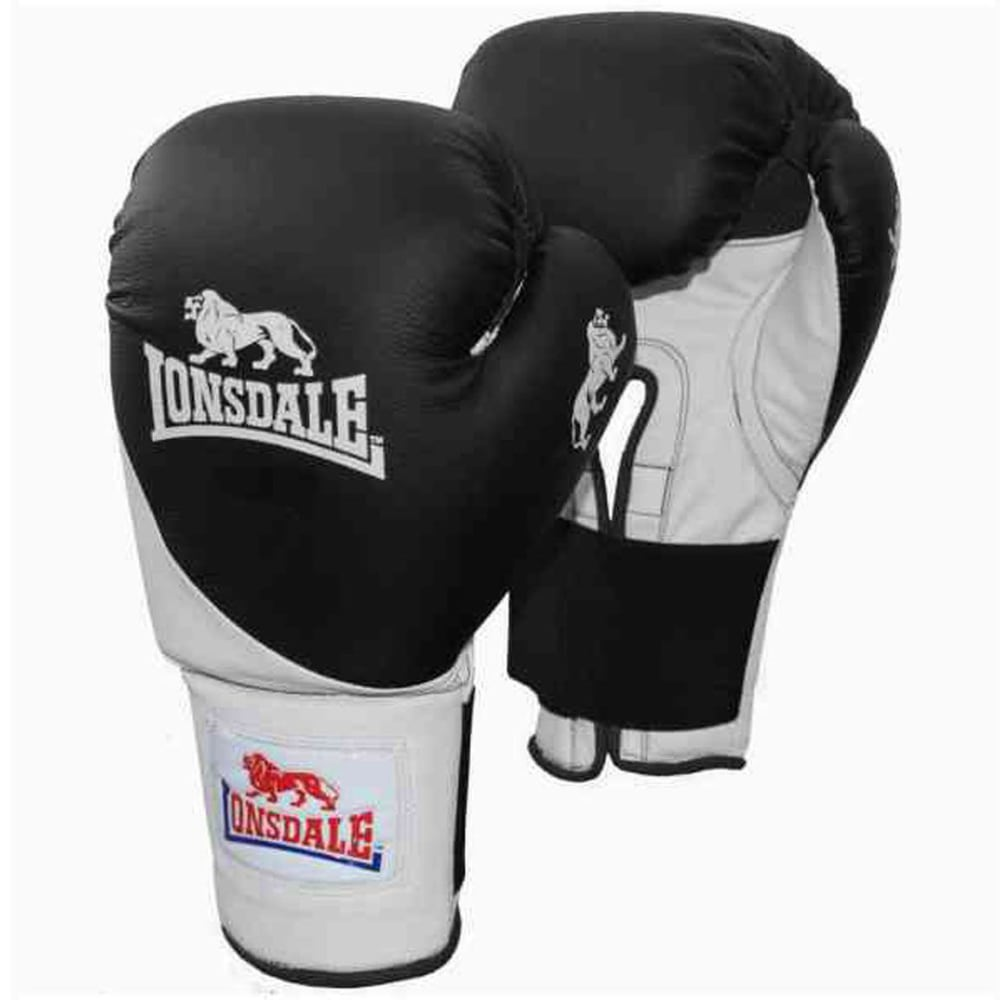 LONSDALE Club Bag Boxing Gloves - BLACK/WHITE