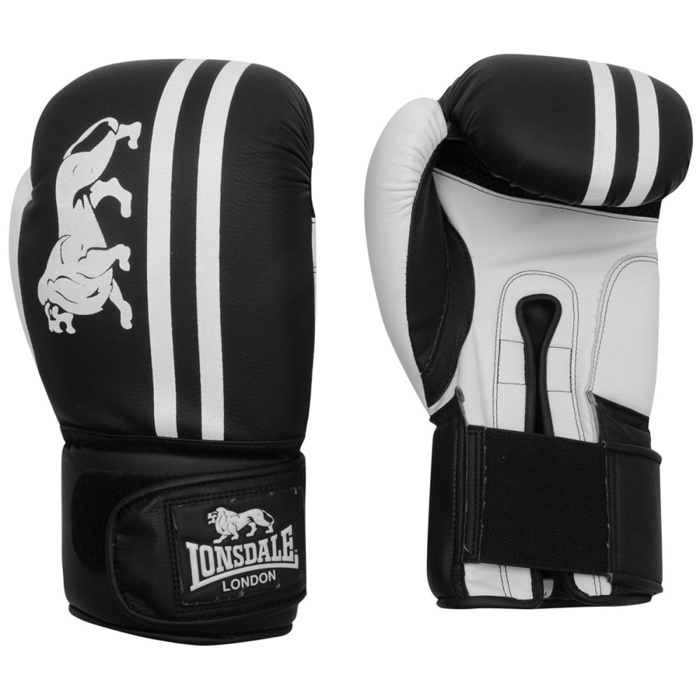 LONSDALE Club Sparring Gloves - BLACK/WHITE