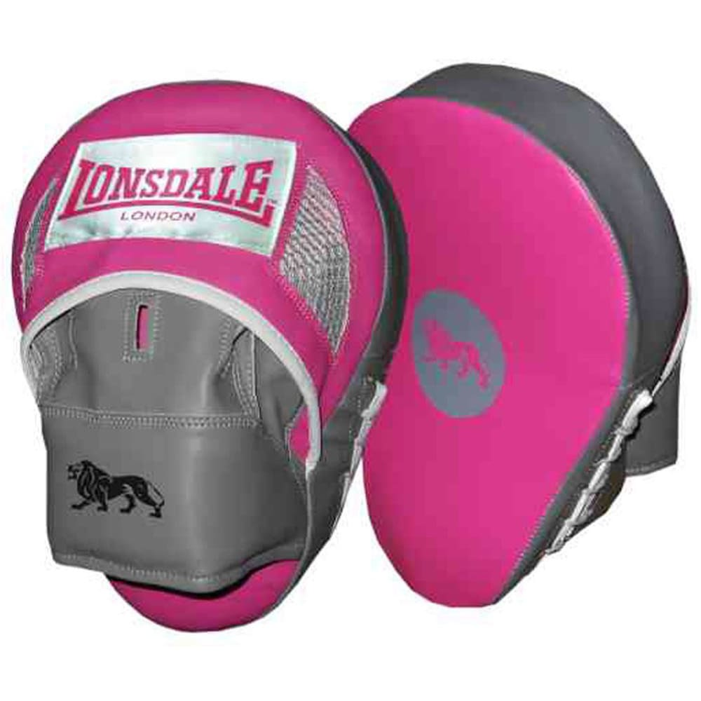 LONSDALE Curved Hook and Jab Pads - PINK/GREY