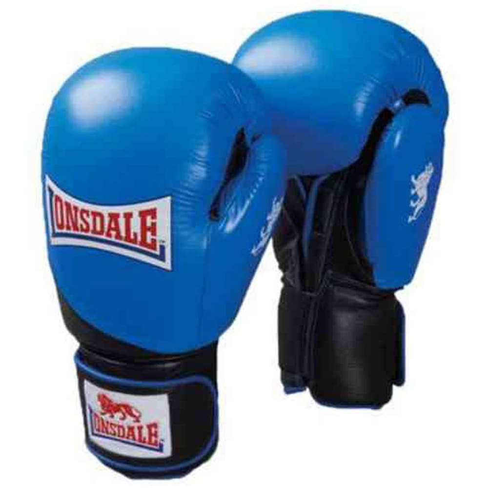 LONSDALE Leather Club Sparring Gloves - BLUE/BLACK