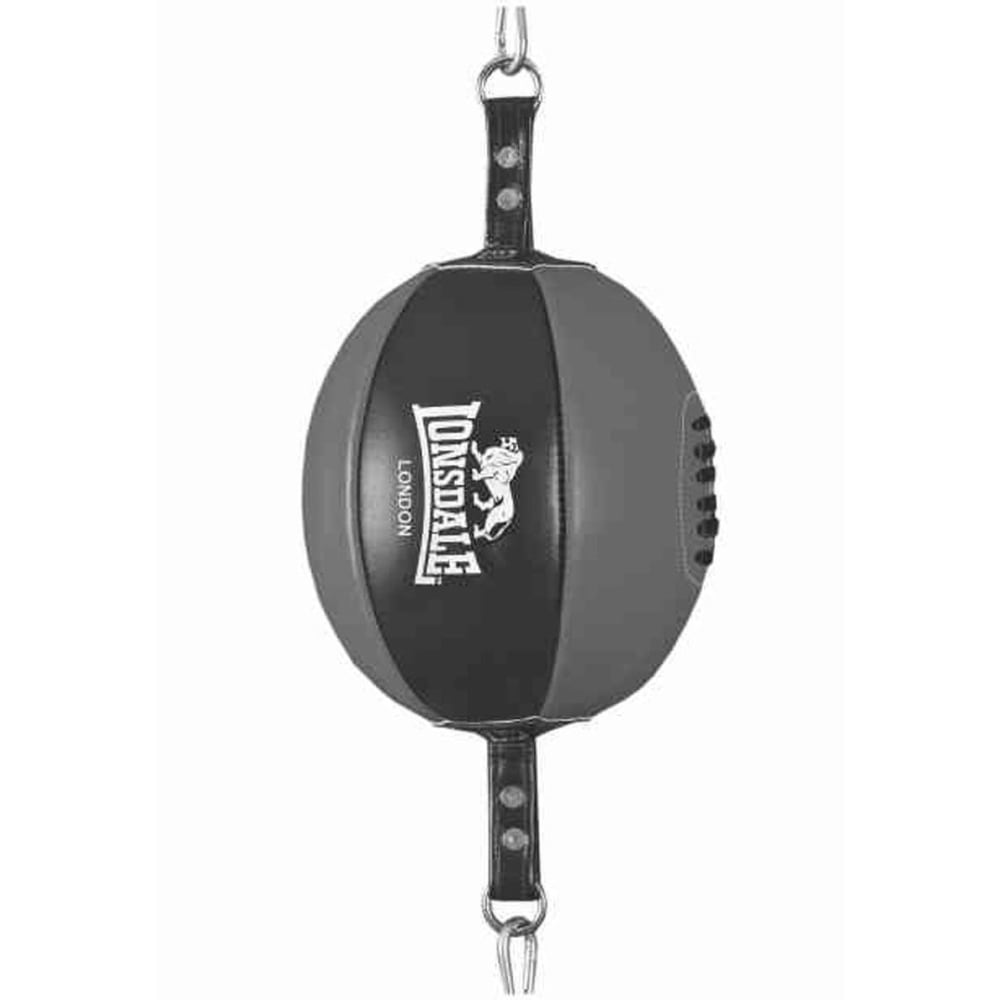 LONSDALE Leather Floor-to-Ceiling Ball - BLACK/GREY