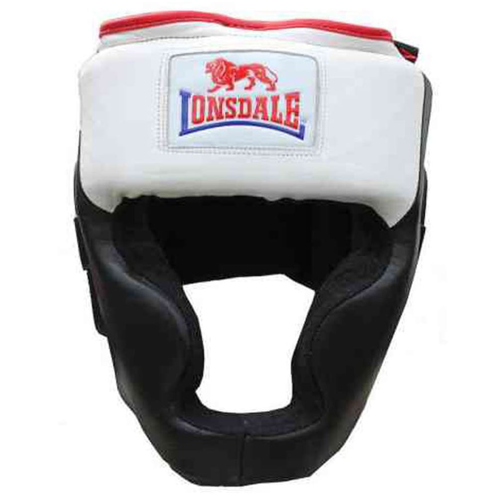 LONSDALE Leather Headguard - BLACK/WHITE