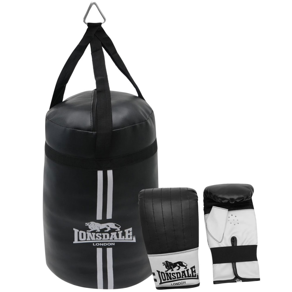 LONSDALE Mini Punch Boxing Set - BLACK/WHITE