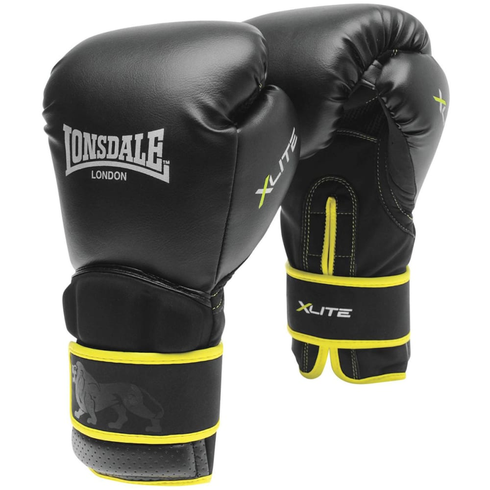 LONSDALE XLite Training Boxing Gloves - BLACK/LIME