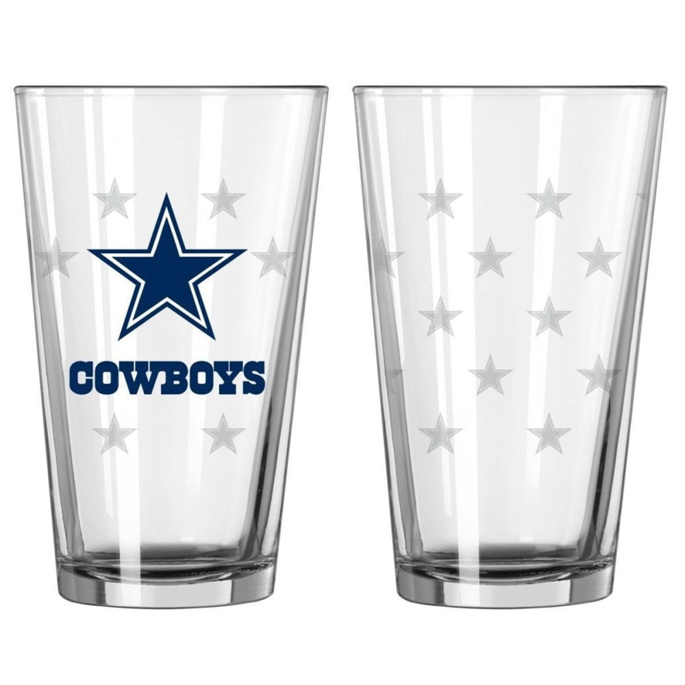 Dallas Cowboys Satin Etch Pint Glass, 16 Oz.