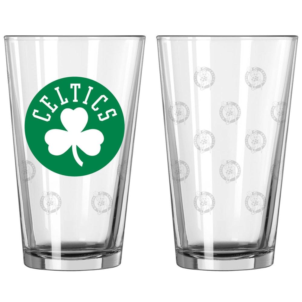 BOSTON CELTICS 16 oz. Satin Etched Pint Glass - NO COLOR