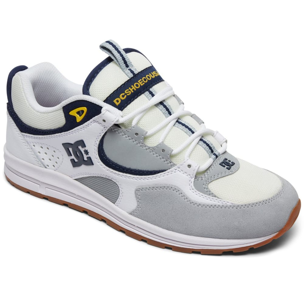 DC SHOES Men's Kalis Lite Skate Shoes - White, 8