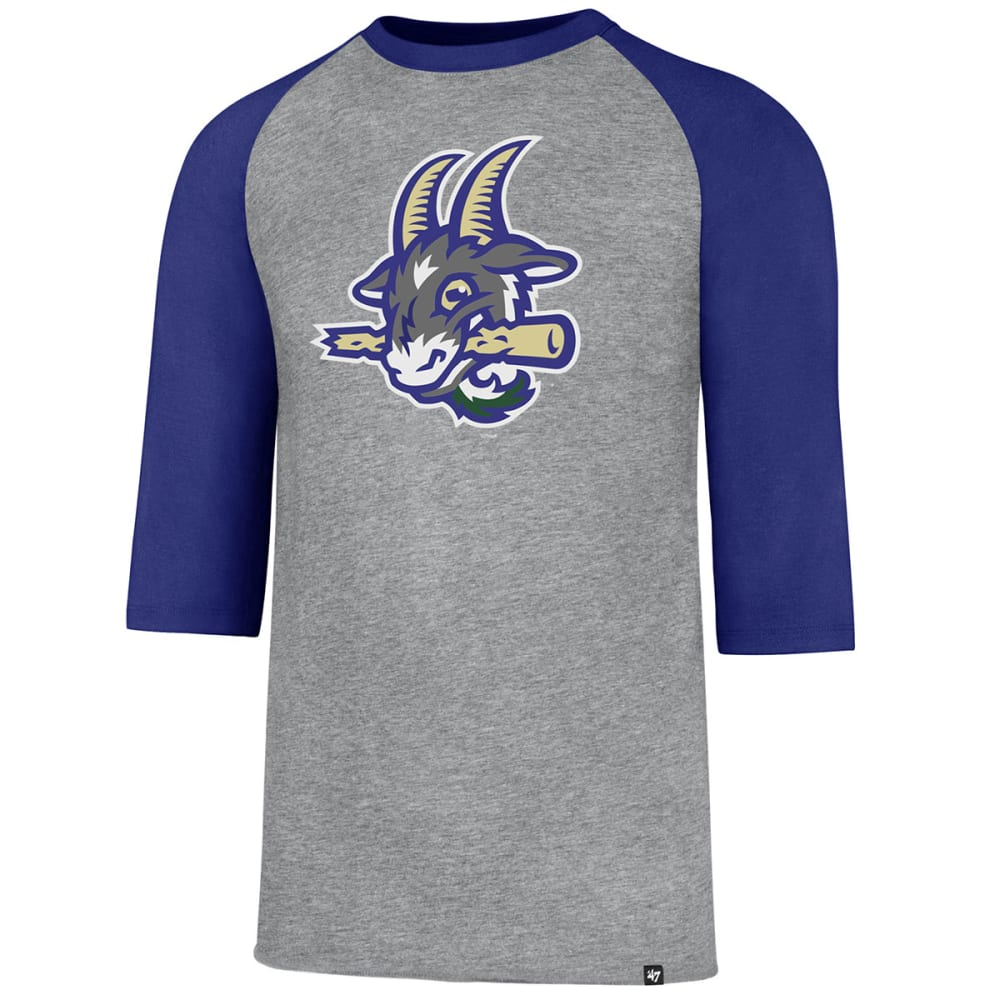 Hartford Yard Goats Men's '47 Club Raglan 3/4 Sleeve Tee - Black, M