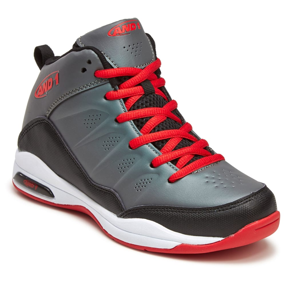 AND1 Big Boys' Breakout Basketball Shoes - GREY