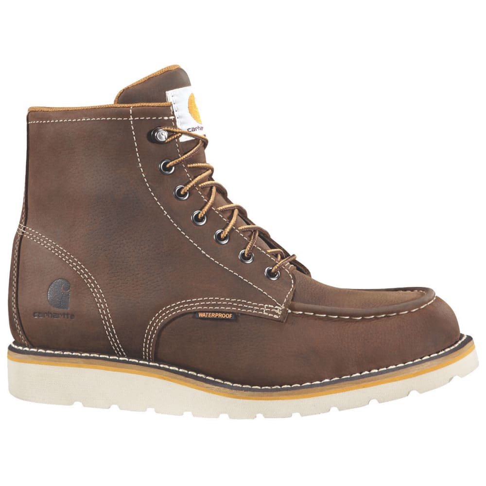 CARHARTT Men's 6-Inch Wedge Boots, Brown - DK BISON OIL TANNED