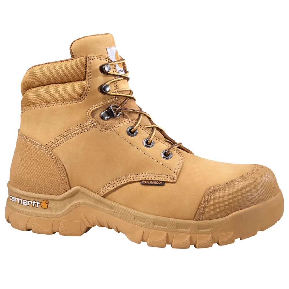 CARHARTT Men's 6-Inch Rugged Flex Waterproof Work Boots, Wheat - WHEAT NUBUCK