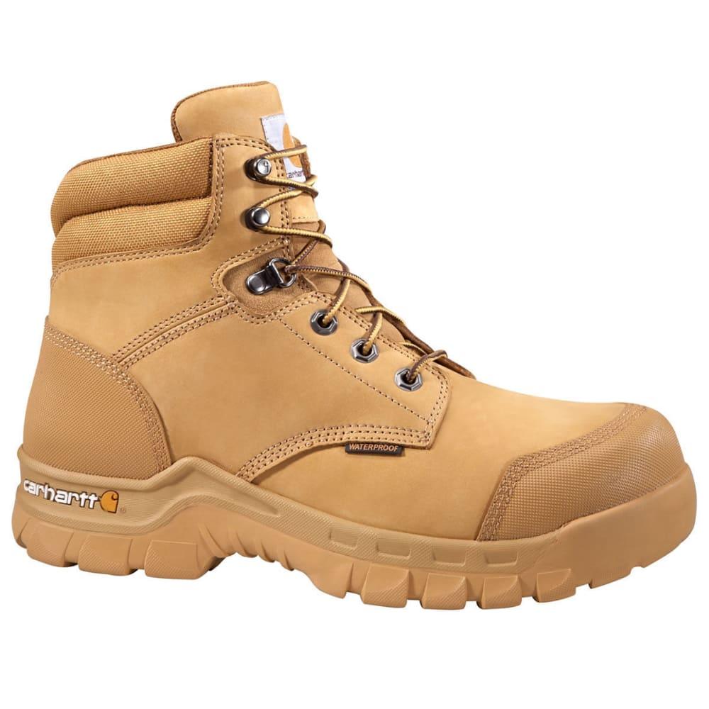 CARHARTT Men's 6-Inch Rugged Flex Waterproof Work Boots, Wheat - WHEAT NUBUCK
