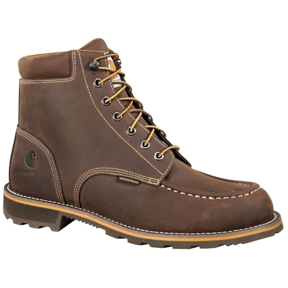 CARHARTT Men's 6-Inch Waterproof Work Boots, Brown - DK BISON OIL TANNED