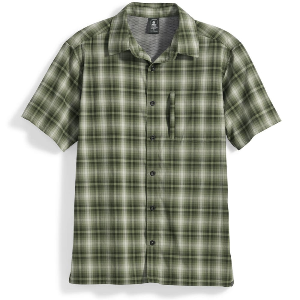 Ems Men's Journey Plaid Short-Sleeve Shirt - Green, S