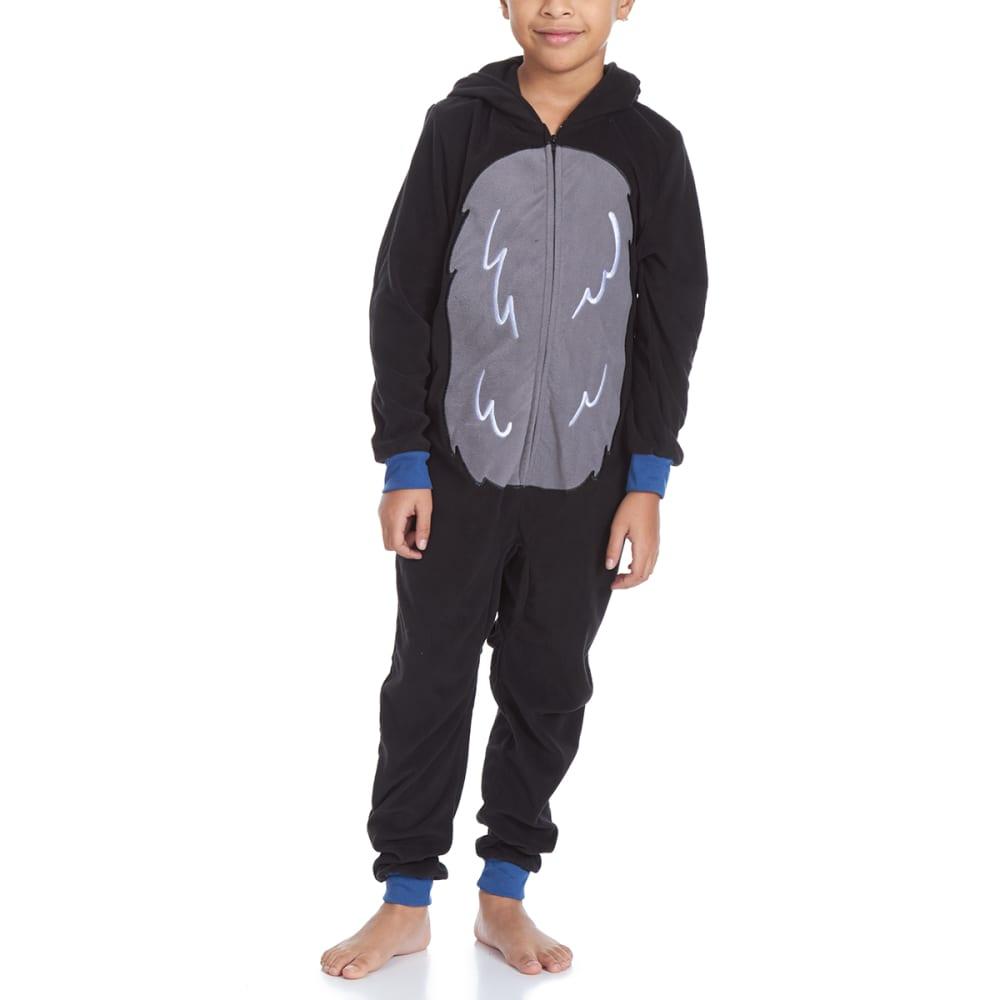 KOMAR Big Boys' Bear Blanket Sleeper Pajamas - BLACK BEAR